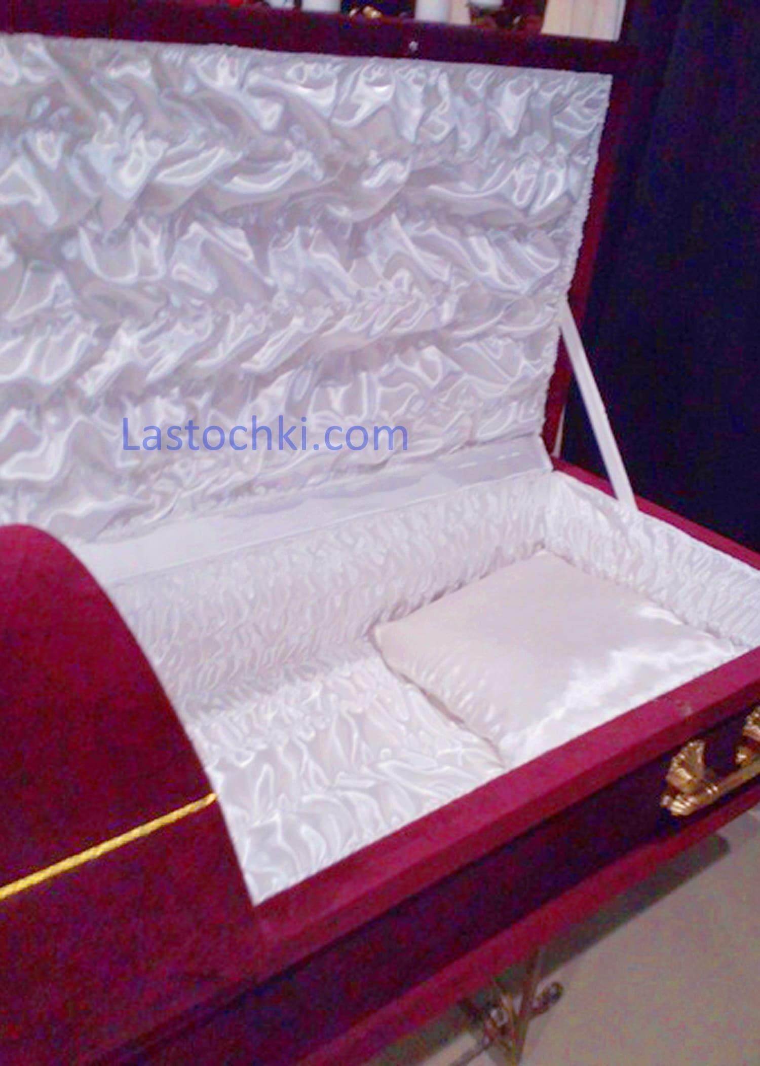 Комбинированный гроб Велюр Цена 10 530 грн.